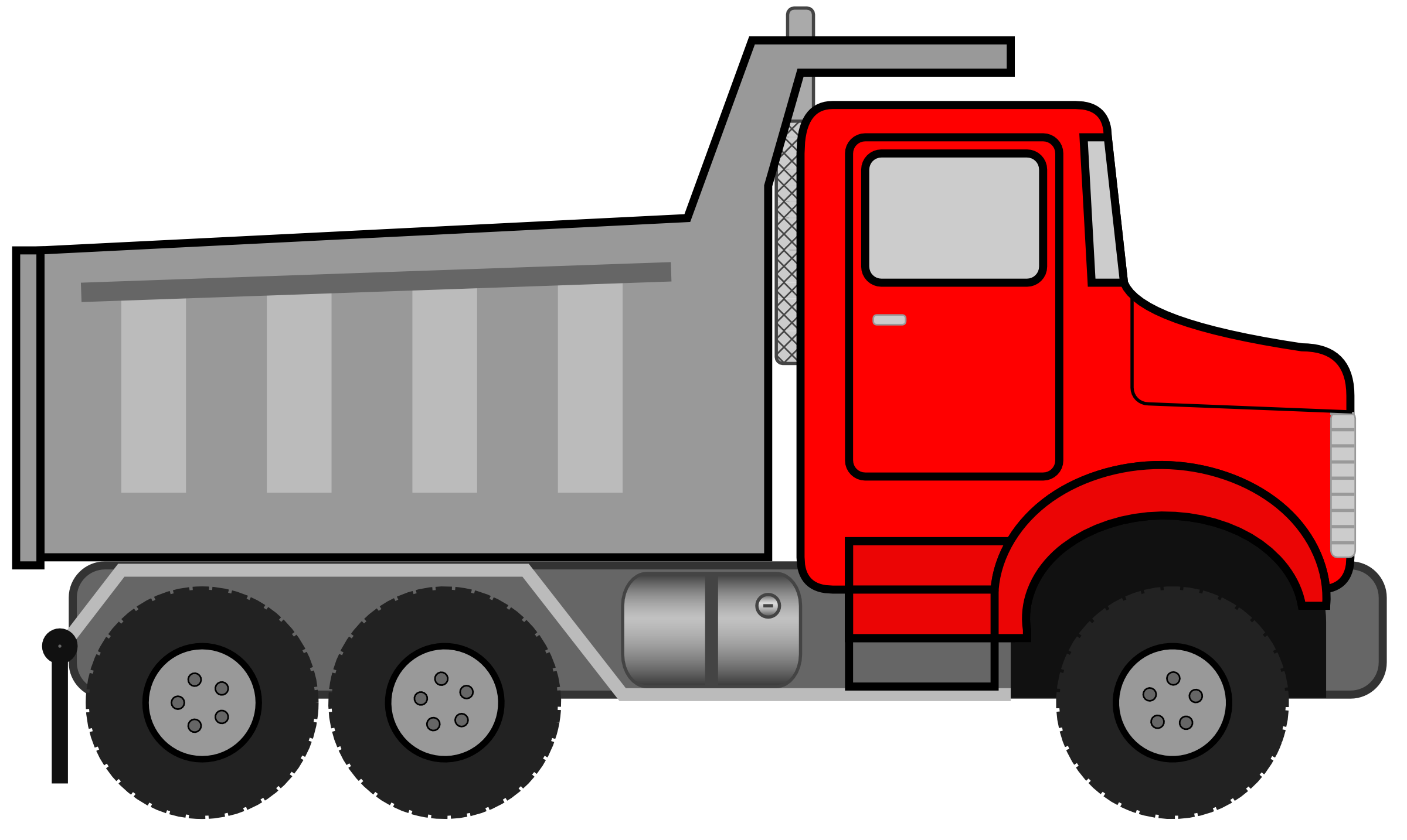 Dump Truck Clipart Black And White-dump truck clipart black and white-3