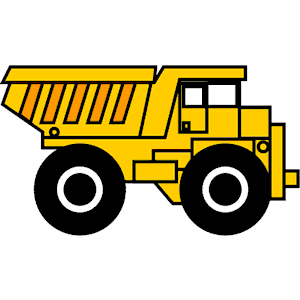 dump truck clipart black and white