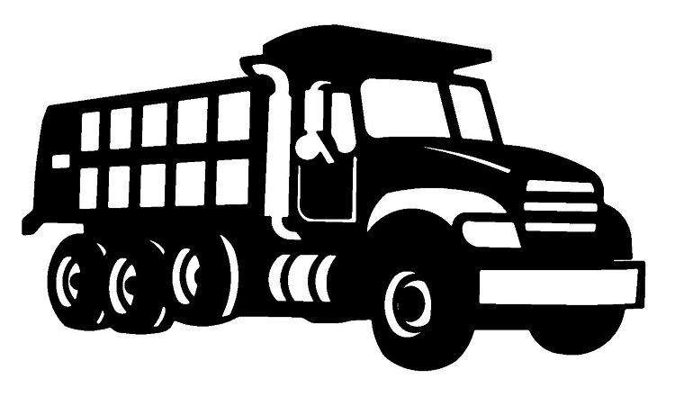 Dump Truck Clipart Black And White-dump truck clipart black and white-5