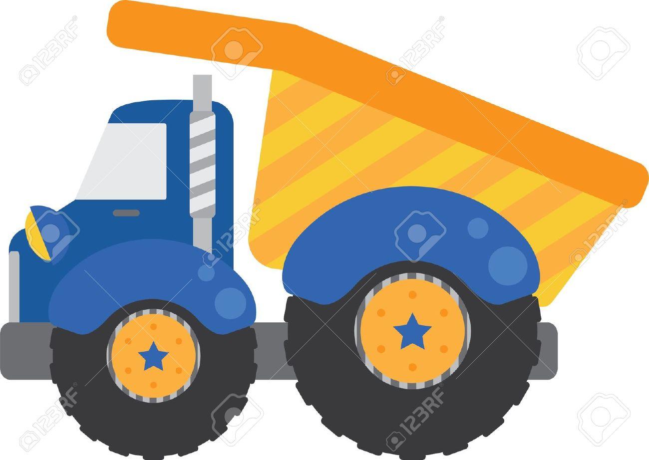 dump truck: Blue Dump Truck