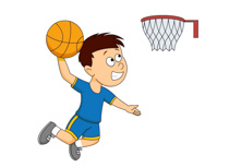 Dunking Boy Playing Basketball Size: 85 Kb