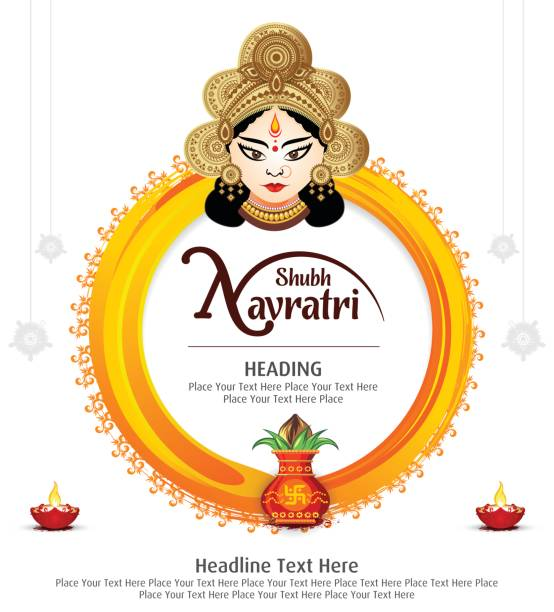 Hindu festival Navratri vector art illustration