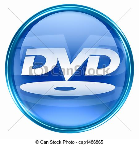 ... DVD Icon Blue, Isolated On White Bac-... DVD icon blue, isolated on white background.-13