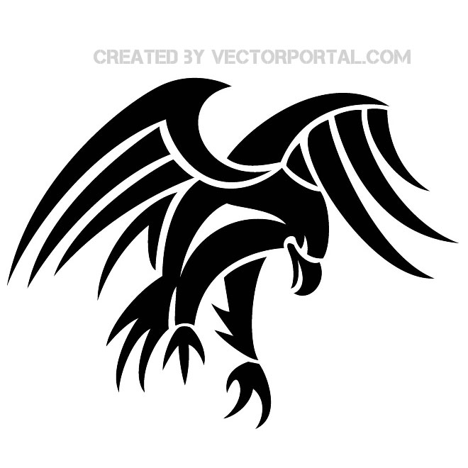 Eagle clip art vectors .