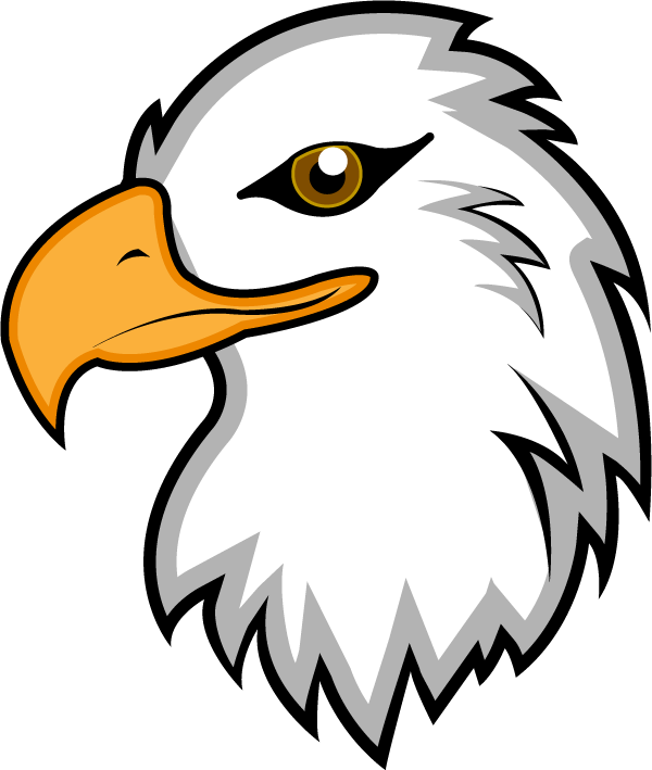 Eagle clip art with raised wings free clipart images