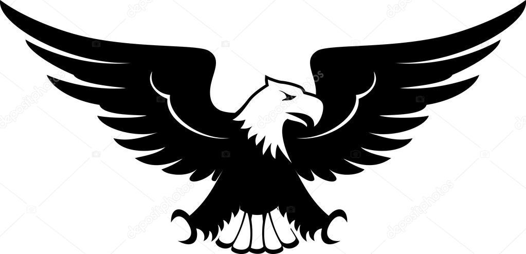 Beyaz Arka Plan üzerinde Izole Eagle Ta-Beyaz arka plan üzerinde izole eagle tasarım ön görünüm görüntüsü u2014  hayaship - Vektör-5