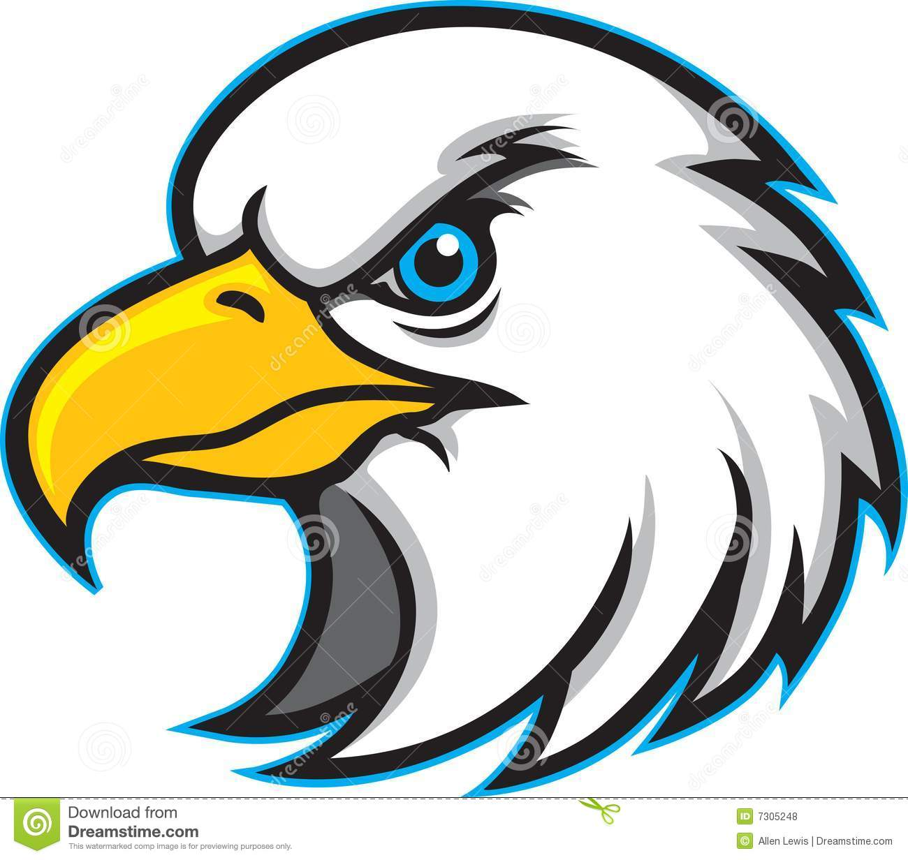 Eagle Head Mascot Logo Royalty .