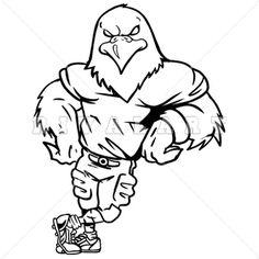 Eagle Mascot Image Leaning For School T--Eagle Mascot Image Leaning for School T-shirt Design.-14