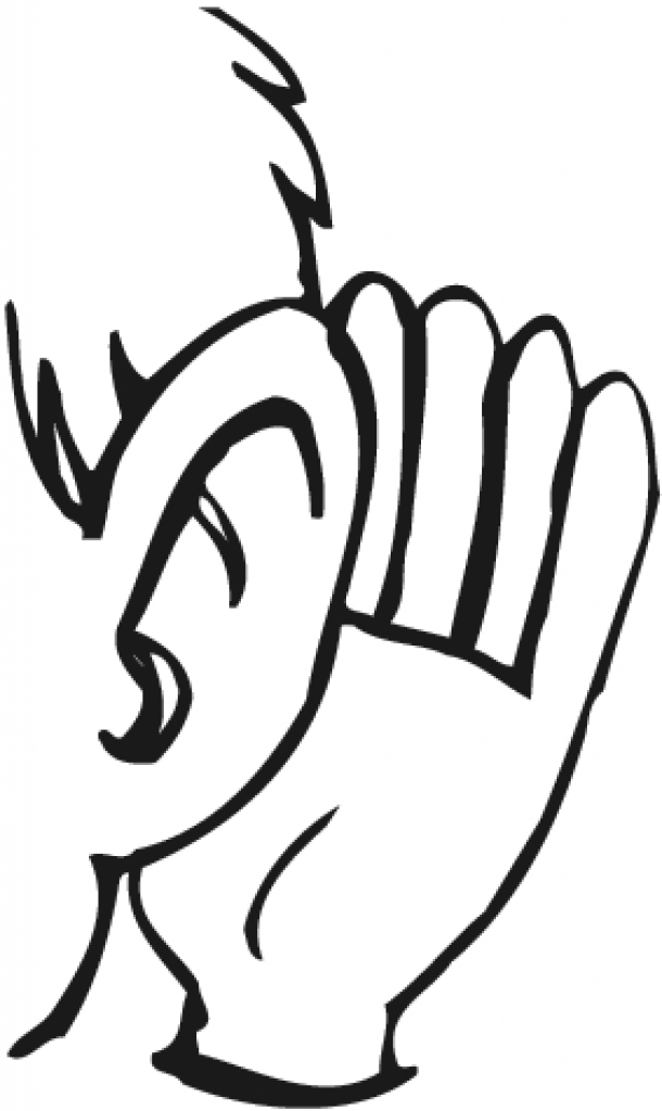 Ear hearing clipart listening