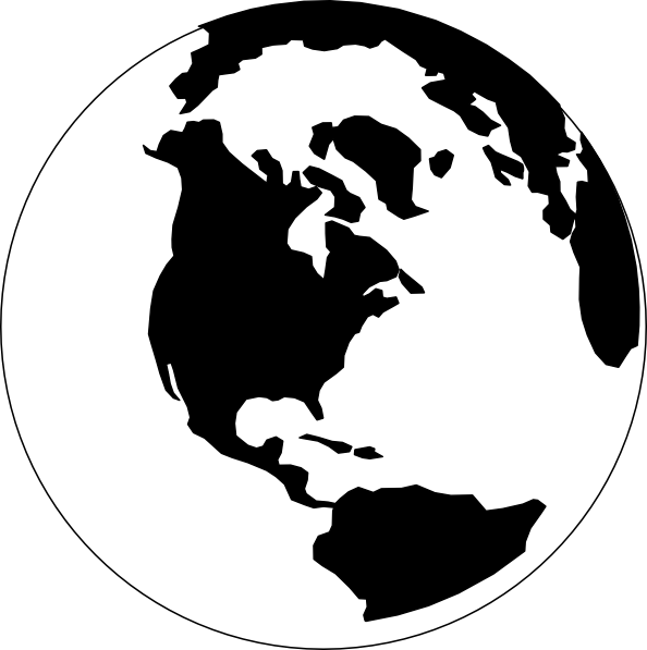 earth clipart black and white-earth clipart black and white-2