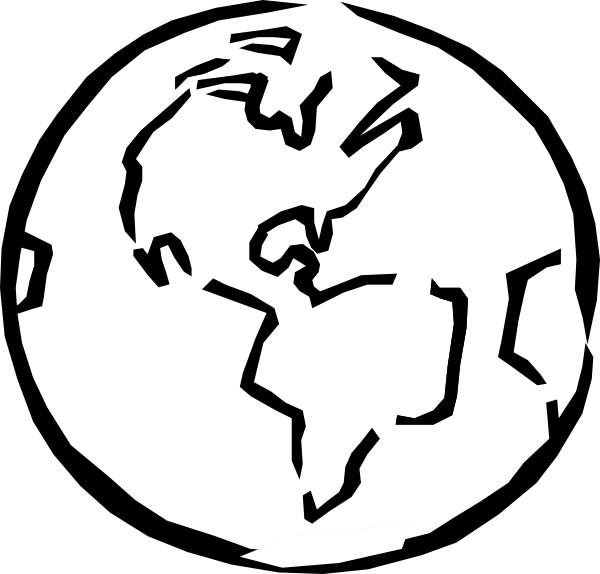 earth clipart black and white-earth clipart black and white-3