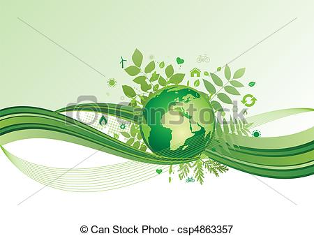 earth and environment icon,green ba - vector background of... ...