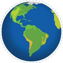 Earth Globe South America North America -Earth globe south america north america clipart. Size: 123 Kb-2