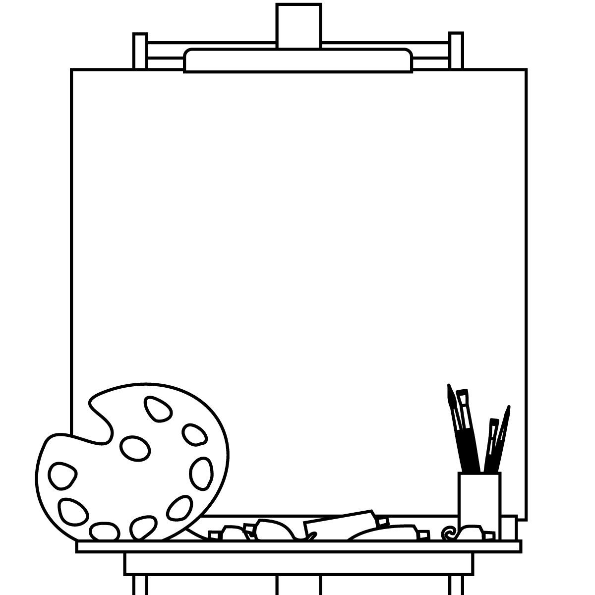 Easel Clipart Black And White ... 10 on -Easel Clipart Black And White ... 10 on Pinterest | Easels, .-14