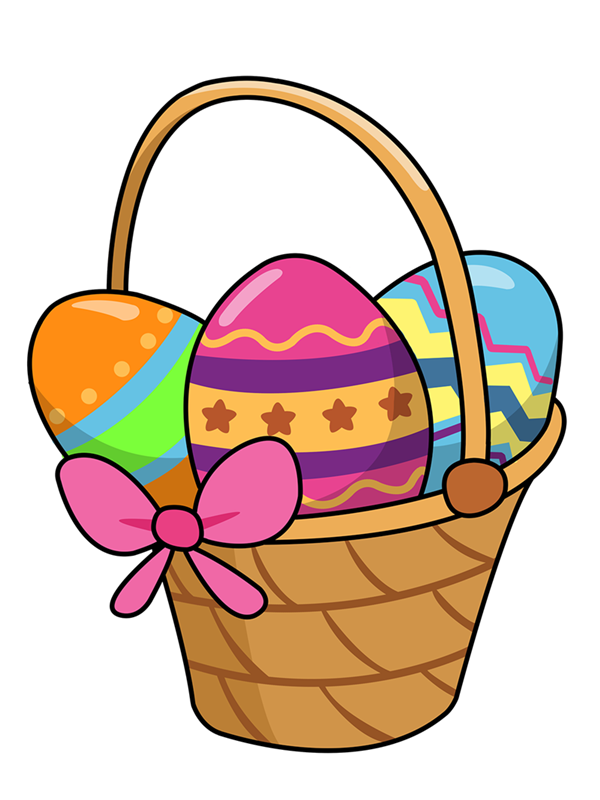 Cute Easter Basket Clipart #1 - Easter Basket Bunny Clipart