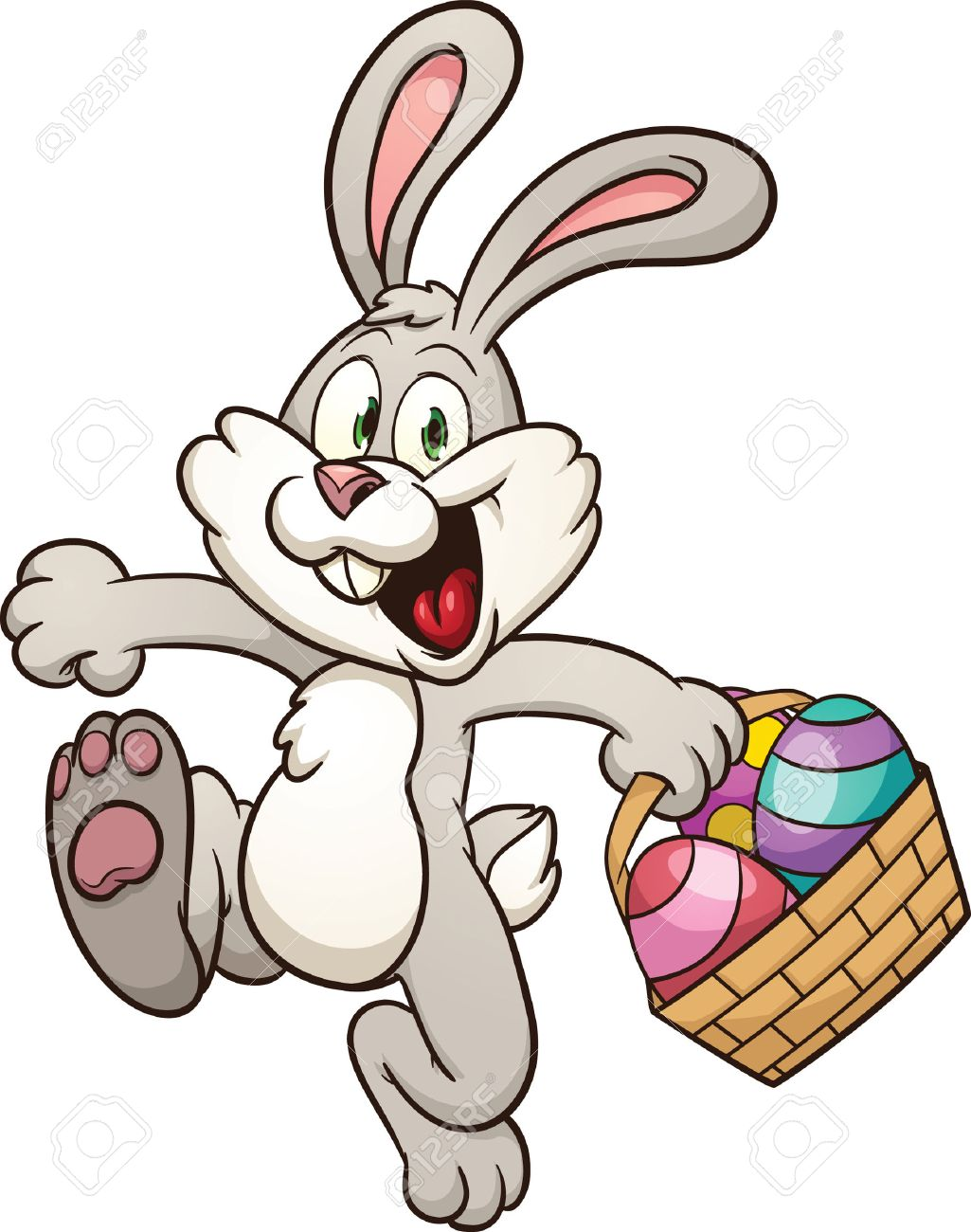 Easter Basket Bunny Clipart b - Easter Basket Bunny Clipart