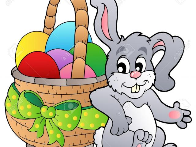 Easter Basket Bunny Clipart cartoon