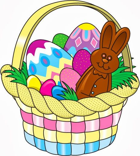 easter basket clipart ; egg-c - Easter Basket Bunny Clipart