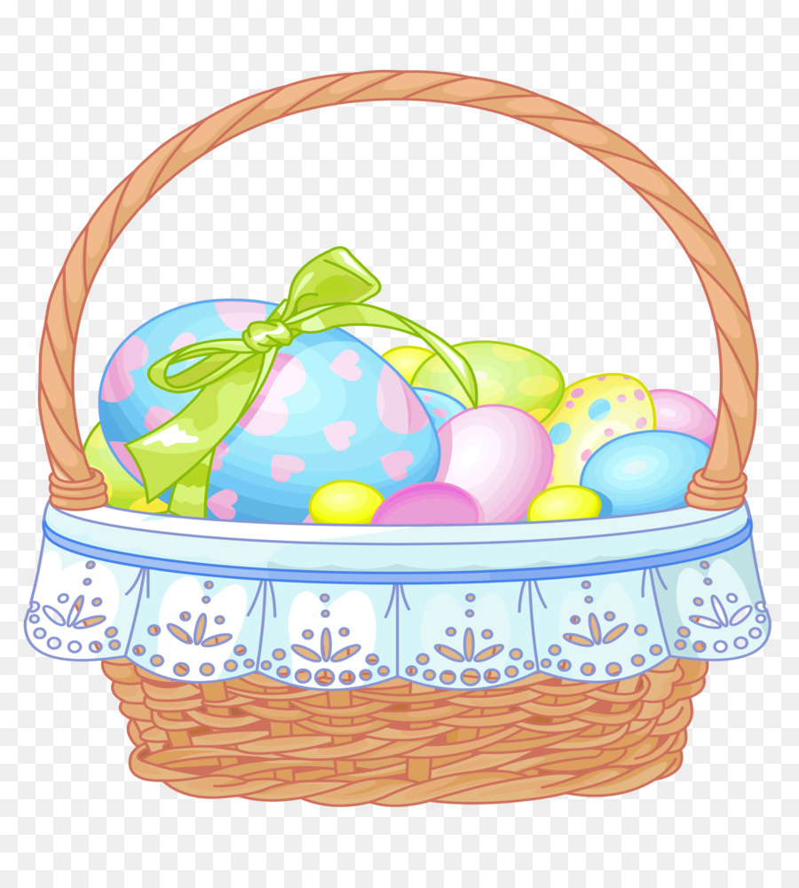 Easter Bunny Easter basket Clip art - Easter Basket Clipart
