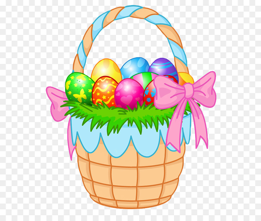 Easter Bunny Easter egg Easter basket Clip art - Transparent Easter Basket  PNG Clipart Picture