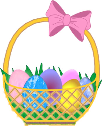 Easter Basket Clip Art Easter Basket Clip Art Has A Pink Bow Clip Art