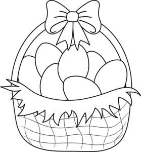Easter Basket Clipart Image: .