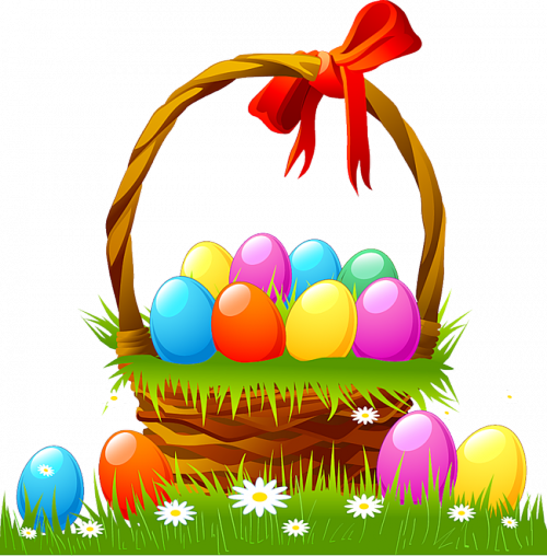 Easter Basket With Eggs And Grass-Easter Basket with Eggs and Grass-8