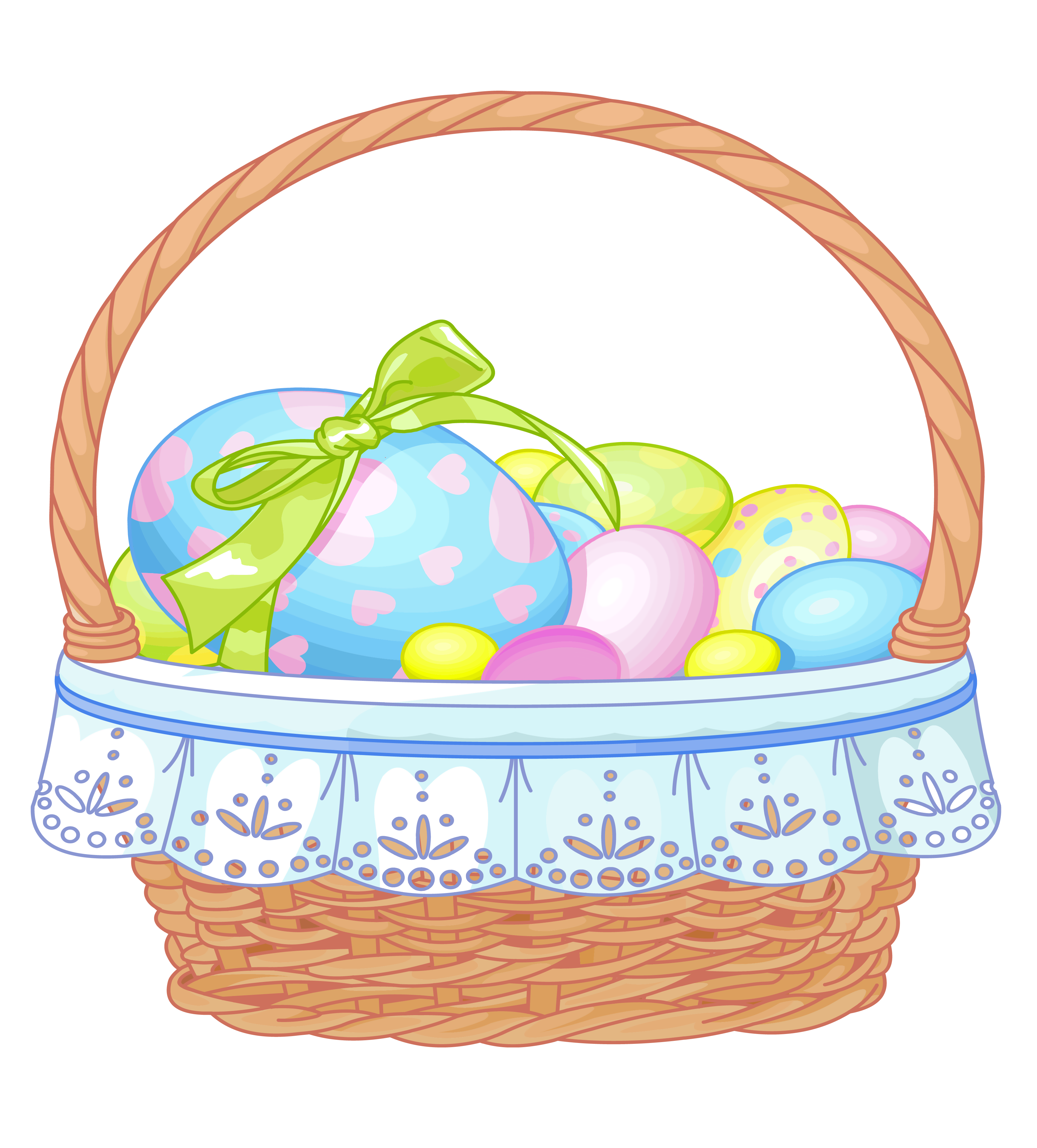 Easter Basket With Eggs Transparent Clip-Easter Basket with Eggs Transparent Clipart-9