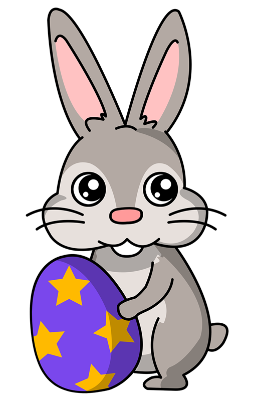 Clip Art Of Easter Bunny .