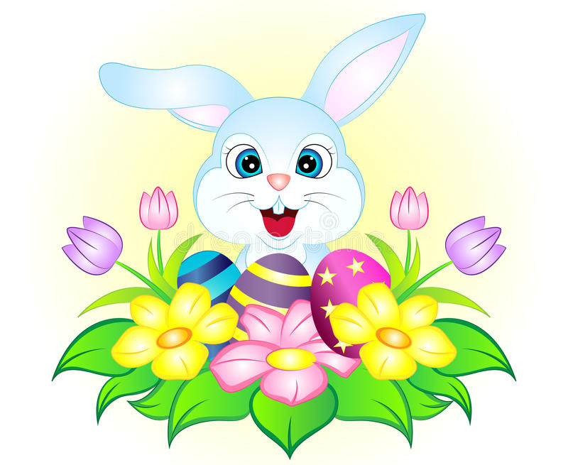 Download Cartoon Easter Bunny stock illustration. Illustration of  easterbunny - 88878371