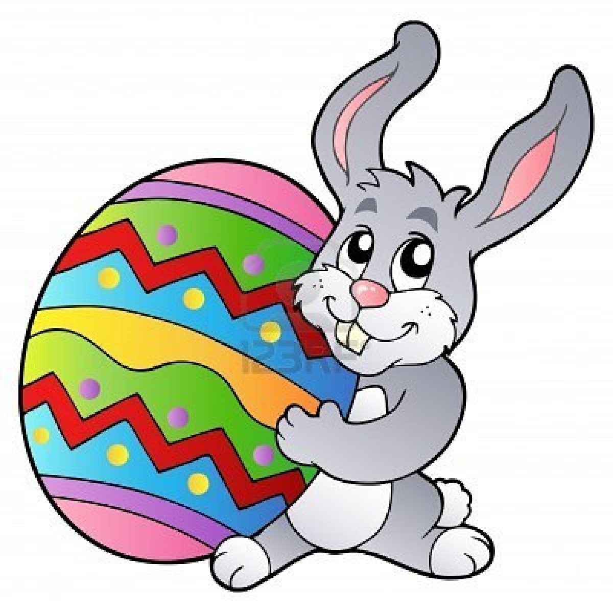Hopping Easter Bunny Clipart (32)