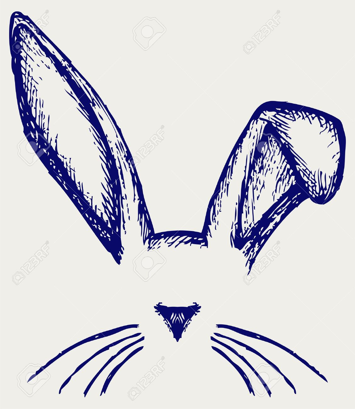 Easter bunny ears. Doodle style Stock Vector - 19483598