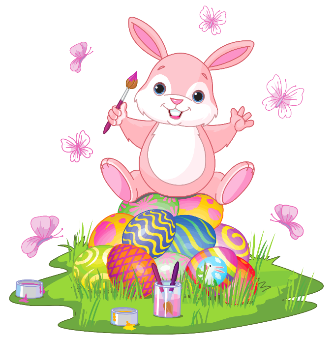 Easter Bunny Pink Free Clipar - Easter Bunny Clipart