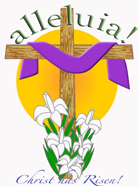 Easter christian clipart .