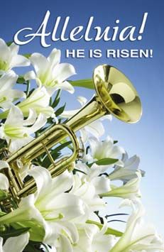 Easter Clip Art Free Christian | easter bulletins alleluia he is risen standard style easter mass