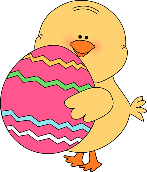 easter clipart | Chick Carrying Easter Egg Clip Art Image - cute yellow  chick carrying .