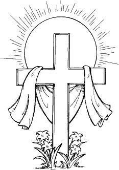 Cross And Flowers Clipart Bla