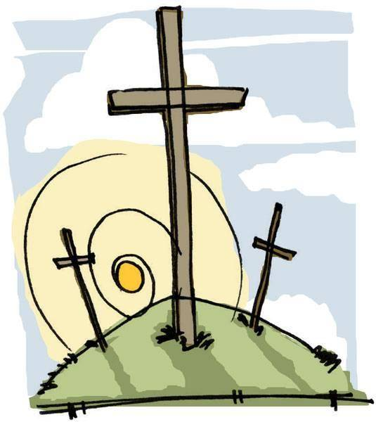 Easter Cross Clipart .