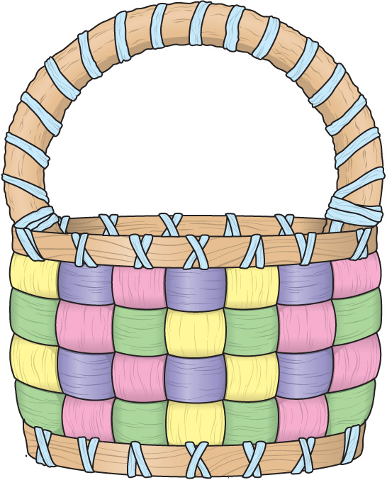 Easter Egg Basket Clipart Cli - Easter Basket Clip Art