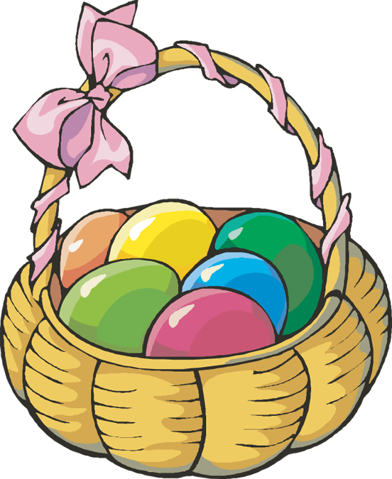 Easter Egg Basket Clipart