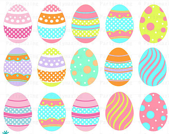 Easter Egg ClipArt Set, .