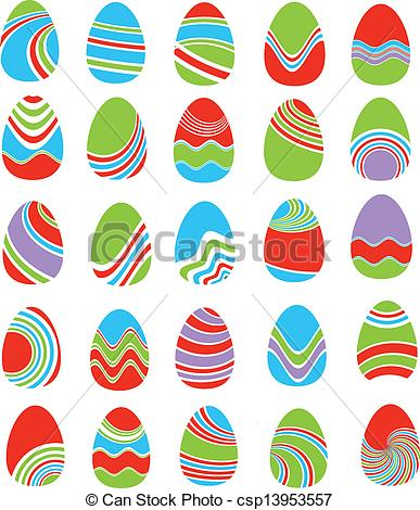 set of Easter eggs - csp13953557