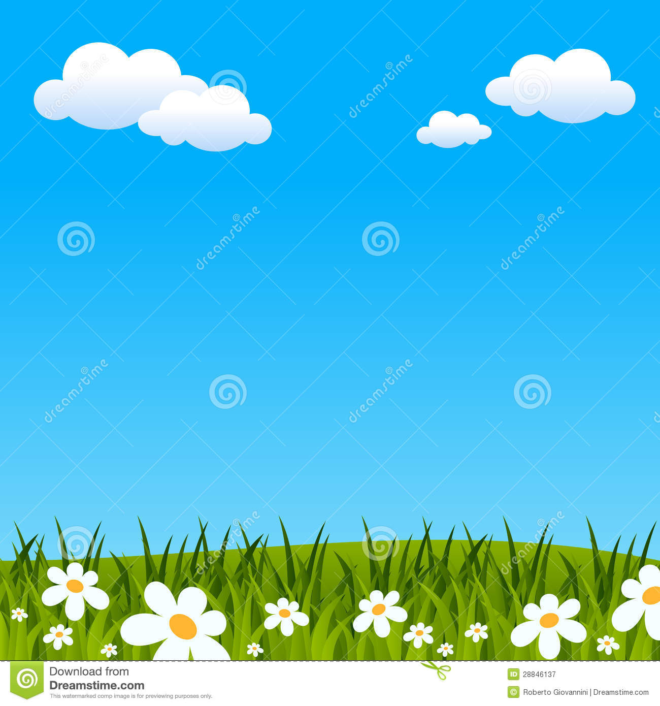Easter or Spring Background - Free Clipart Backgrounds