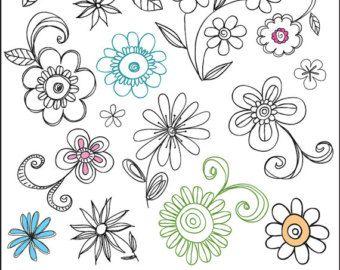 Easy Doodle Art Flowers | Simple Flower -Easy Doodle Art Flowers | Simple Flower Doodle Digital doodle clip art,-15