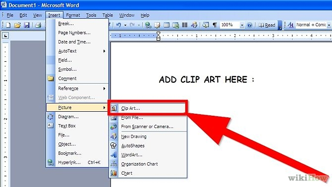 Easy Ways To Add Clip Art To Microsoft Word Wikihow
