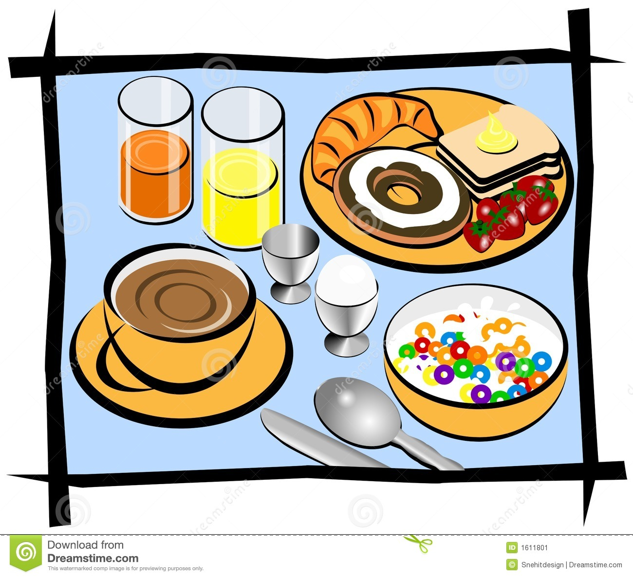 Eating Breakfast Clipart Clipart Panda Free Clipart Images