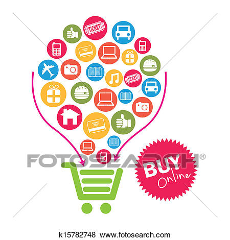 Clip Art - ecommerce . Fotosearch - Search Clipart, Illustration Posters,  Drawings, and