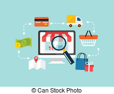 Stock vector e commerce Clipartby ClipartLook.com