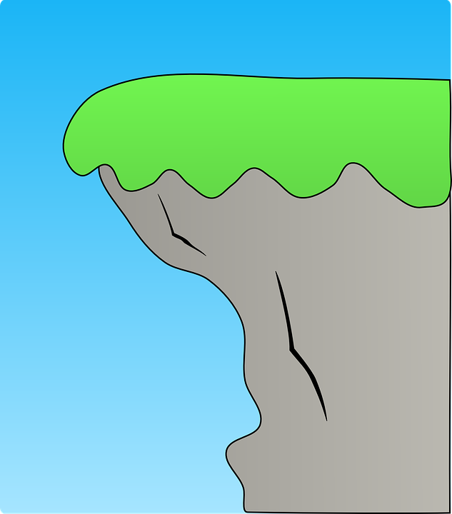 cliff coast ridge edge coasta - Edge Clipart