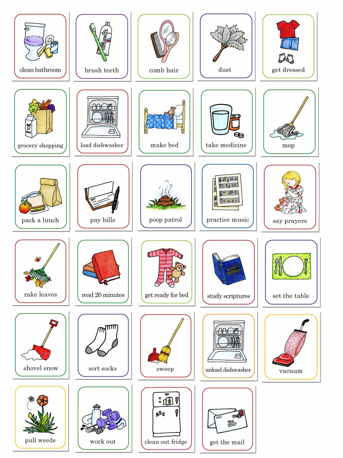 Education Family Chore Clipart. 75611b68-Education Family Chore Clipart. 75611b6826e9793d8a67a97b54a85e . I am a mother.-9